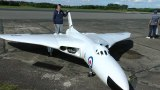 ONBOARD CAMS ON GIANT RC SCALE AVRO VULCAN XH 558 DAVE AT RAF ELVINGTON LMA MODEL AIRCRAFT SHOW 2014